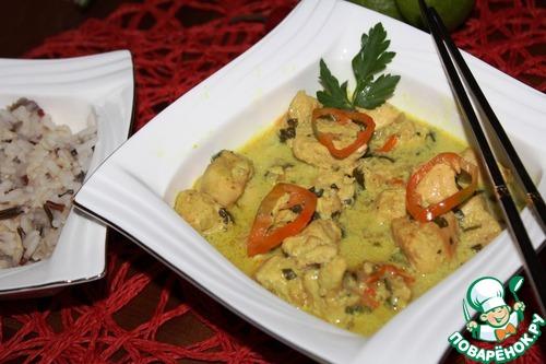 Курица в кокосовом молоке по-тайски рецепт с фото