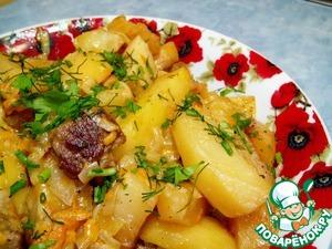 Рецепт Картофель, тушеный в сливках, необычайно вкусный и ароматный