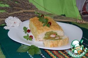 Рыбный хлебец с начинкой из броколи и крабовых палочек