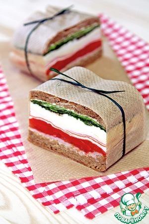 Рецепт Прессованные сэндвичи в Итальянском стиле