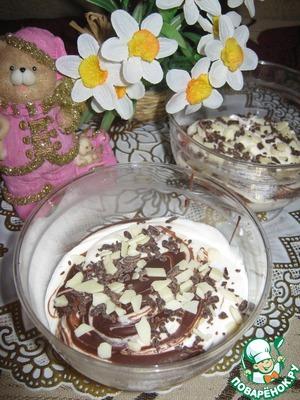 Рецепт Творожно-банановый десерт с шоколадом