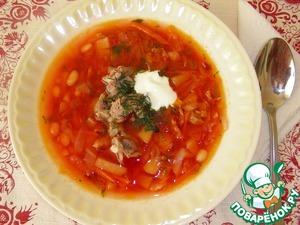 Рецепт Борщ с фасолью