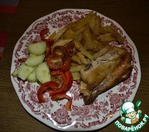 Рецепт Картофель жареный с луком, чесноком, специями