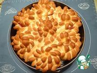 """Пирог """"Цветы"""" с беконом и сыром Чечил ингредиенты"""