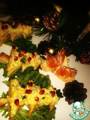 """Рецепт Закуска """"Новогодние ёлочки"""""""