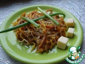 Рецепт Тёплый овощной салат с фунчозой