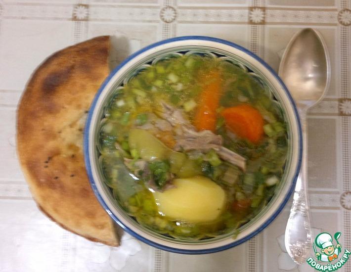 Рецепт: Узбекская шурпа в мультиварке