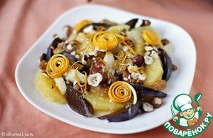 Рецепт Фруктово-ягодный десерт с орехами