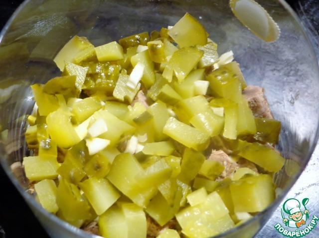 салат мясо с огурцами рецепт #6