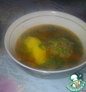 Рецепт Кюфта бозбаш (Суп с тефтелями)