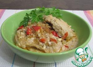 Рецепт Коблер из курицы с перцем