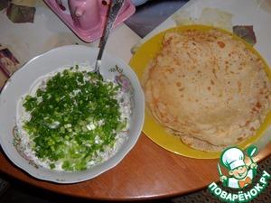 Рецепт Кашка из селедки с луком с блинчиками на пиве