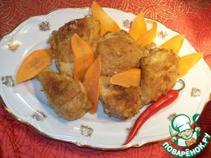 Рецепт Цыпленок с лимонно-имбирной корочкой