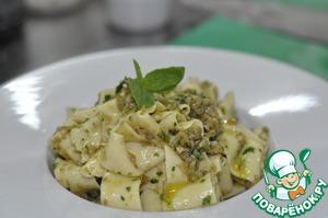 Рецепт Папарделле с соусом из оливок и анчоусов