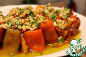 Рецепт Жареные перцы с филе анчоусов в соусе