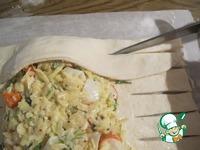 Сырный пирог с крабовыми палочками ингредиенты