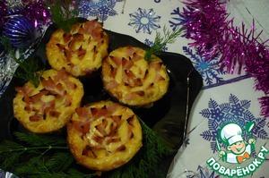 Рецепт Закусочные кексы с ветчиной