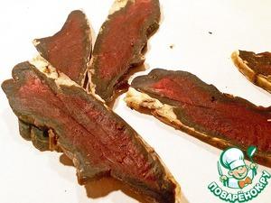 Рецепт Сыро-вяленое говяжье сердце