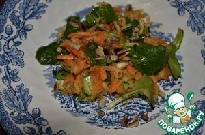 Рецепт Фельд-салат с морковью и яблоком