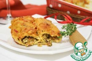 Рецепт Каннеллони с морепродуктами. Cannelloni di mare