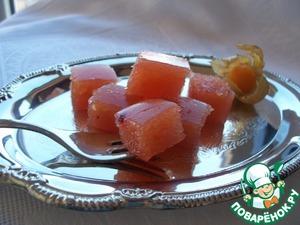 Рецепт Дулсе де мембрильо. Плотный мармелад из айвы с лимонным соком