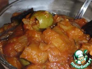 Рецепт Капоната, сицилийское рагу из баклажан