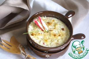 Рецепт Крабовое суфле с рикоттой, хреном и миндалем