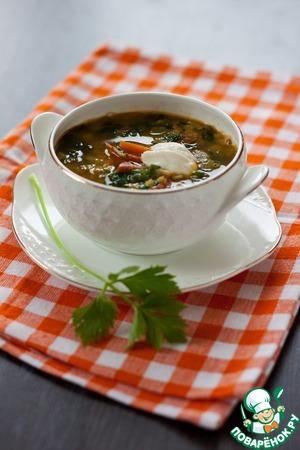 Рецепт Суп с чечевицей и шпинатом от Джейми Оливера