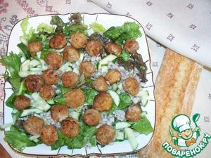 Рецепт Сытный салат с перловкой
