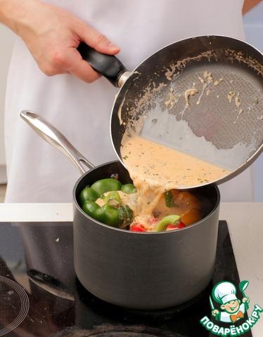 Приготовить соус для фаршированного перца