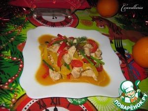 Рецепт Куриное филе в имбирно-апельсиновом соусе