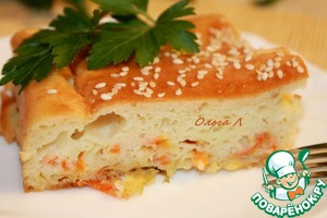 Рецепт Наливной пирог с квашенной капустой