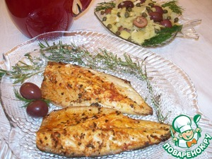 Рецепт Скумбрия с картофельным салатом. По мотивам рецепта Джейми Оливера
