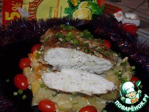 Рецепт Куриная грудка запеченная с картофелем