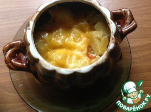 Рецепт Филе индейки с овощами в горшочке