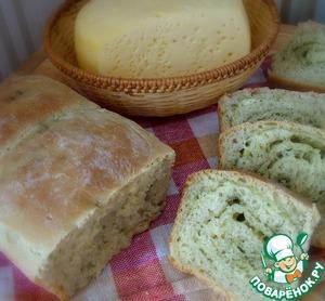 Рецепт Пшеничный хлеб с сыром и укропом