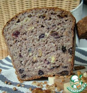 Рецепт Пшеничный хлеб с орехами и изюмом