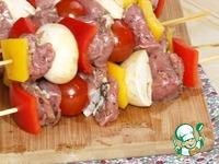 Кебабы из баранины с перцем и помидорами ингредиенты