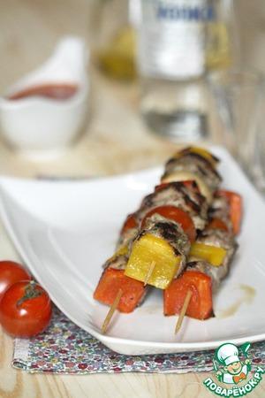 Рецепт Кебабы из баранины с перцем и помидорами