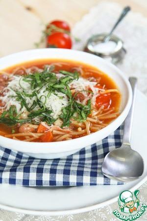 Рецепт Минестроне с фасолью борлотти