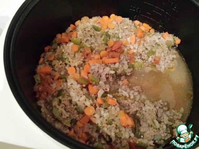 """""""Ленивые"""" перцы с мясным фаршем простой рецепт приготовления с фотографиями #8"""