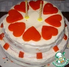 Рецепт Творожно-тыквенный торт (на основе манника)