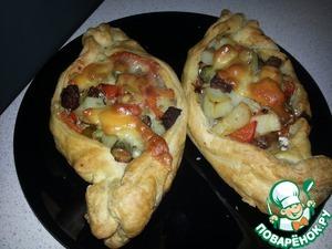 Рецепт Мясо по-старорусски с перцем и маринованным огурчиком