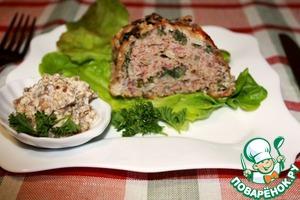 Рецепт Рулет из дикого риса Акватика Color MIX с мясом, шпинатом и сливочно-грибным соусом
