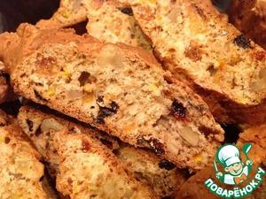 Рецепт Печенье с орехами и изюмом (бискотти)