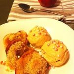 Яблочки, запеченные с вареньем и штрейзелем