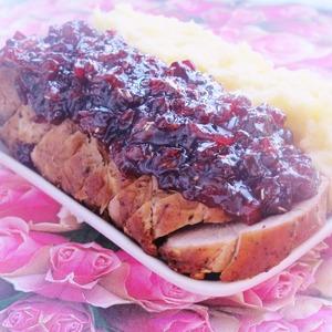 Свиная корейка с брусничным соусом домашний пошаговый рецепт с фотографиями готовим