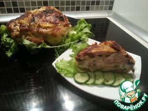 Рецепт Праздничная фаршированная курица