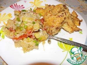 Рецепт Крылышки тушеные с картофелем