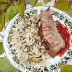 Мясная книжка из свинины с рисом